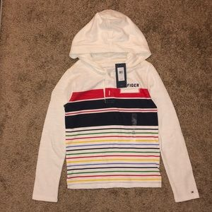 Tommy Hilfiger Boys hooded Long Sleeve Shirt